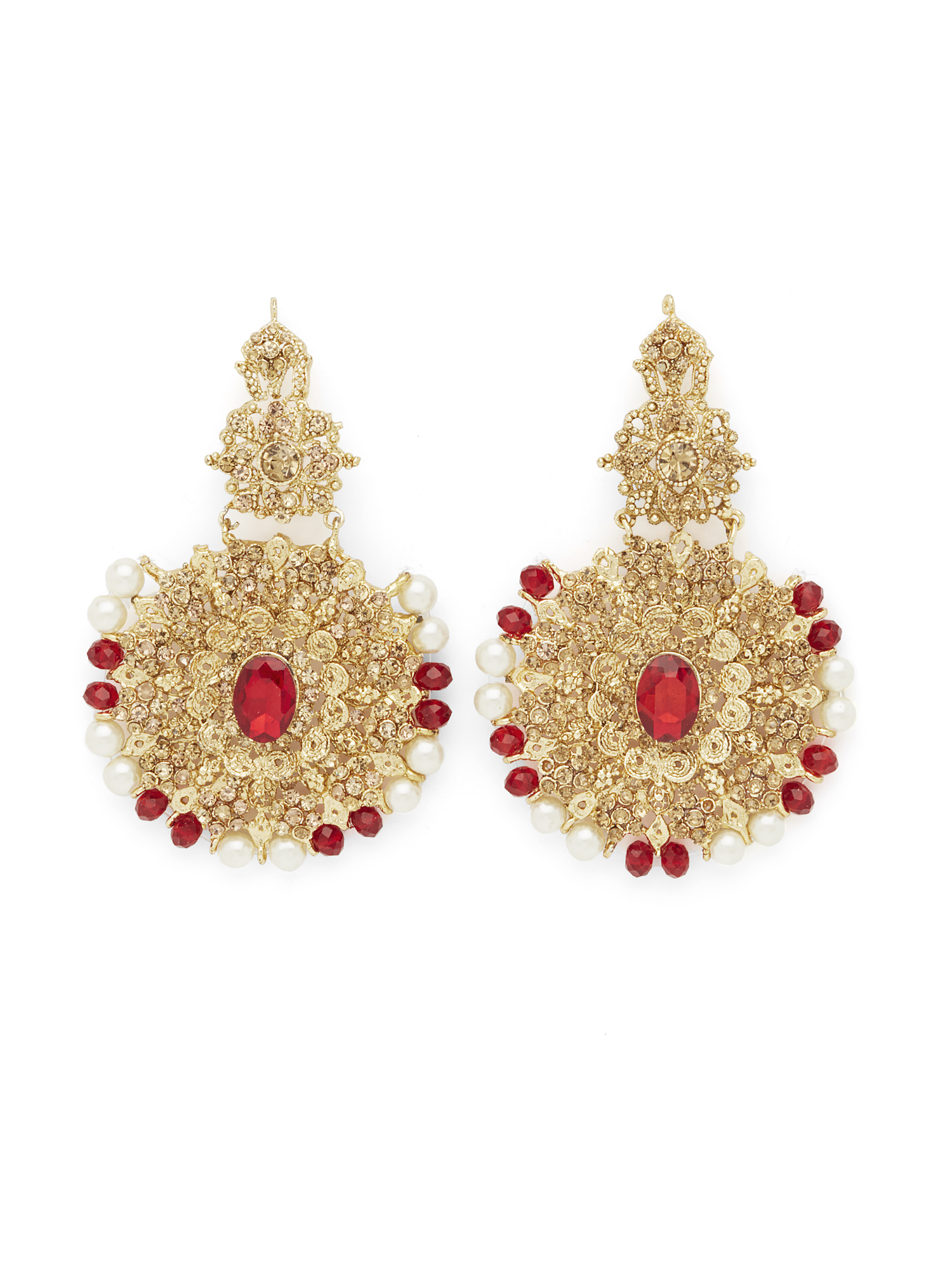 nigaam gold and of jewellery picture ruby earrings white diamond drop